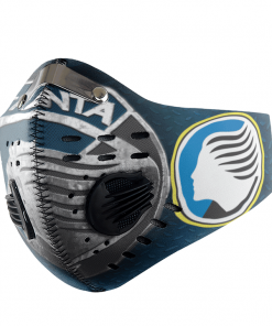 Atalanta FACE MASK SPORT WITH FILTERS CARBON PM 2.5