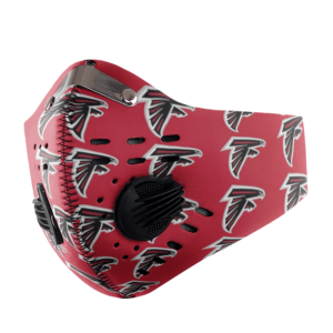 Atlanta Falcons FACE MASK SPORT WITH FILTERS CARBON PM 2.5