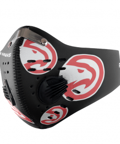 Atlanta Hawks FACE MASK SPORT WITH FILTERS CARBON PM 2.5