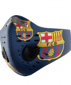 Barcelona FACE MASK SPORT WITH FILTERS CARBON PM 2.5
