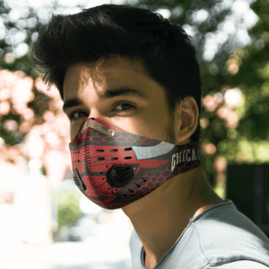 Chicago Bulls FACE MASK SPORT WITH FILTERS CARBON PM 2.5