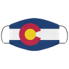 Flag of Colorado state face mask