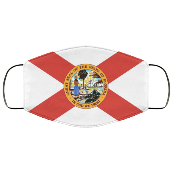 Flag of Florida state face mask