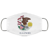 Flag of Illinois state face mask
