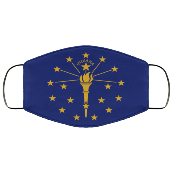 Flag of Indiana state face mask
