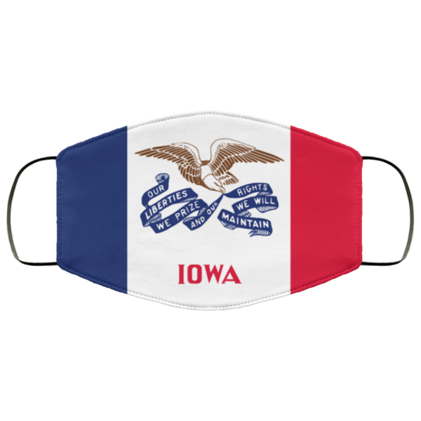 Flag of Iowa state face mask