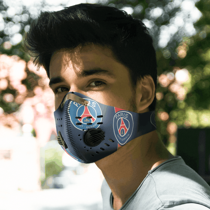 Paris Saint Germain Face Mask Sport With Filters Carbon Pm 2 5 Q Finder Trending Design T Shirt