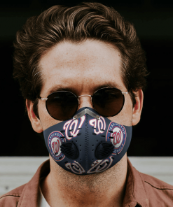 WASHINGTON NATIONALS FACE MASK SPORT WITH FILTERS CARBON PM 2.5
