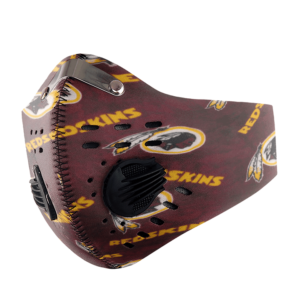 Washington Redskins FACE MASK SPORT WITH FILTERS CARBON PM 2.5
