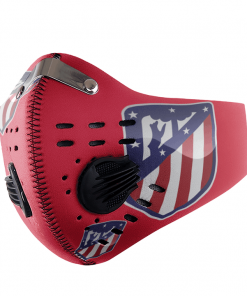atletico madrid FACE MASK SPORT WITH FILTERS CARBON PM 2.5