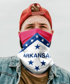 ARKANSAS FLAG FACE MASK NECK GAITER