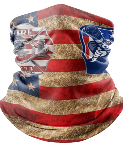 AMERICAN FLAG FIRE FIGHTER FIREMAN FACE MASK NECK GAITER