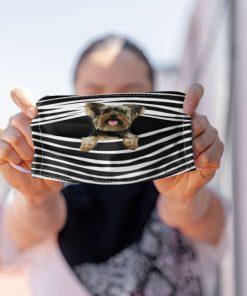Cute Yorkie Yorkshire Terrier Stripe Dog Lovers Face Mask