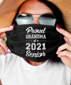 Proud Grandma Of A 2021 Senior face mask