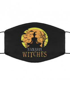 Women's Namaste Witches Funny Yoga Halloween face Mask