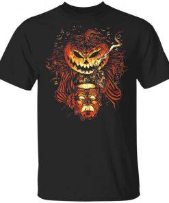 Alternative Universe Halloween Scary Pumpkin Head Lantern T-Shirt