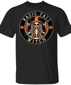 Basic Fall Witch Starbucks Halloween T-Shirt