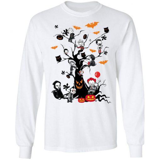 Gather Around The Living Halloween Tree Horror Killers T-Shirt