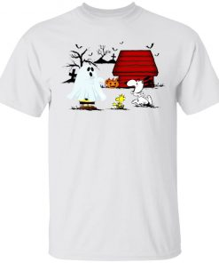 Halloween Night Charlie Brown Scared Snoopy T-Shirt