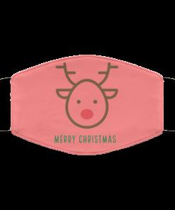 Cute Christmas Reindeer Face Mask