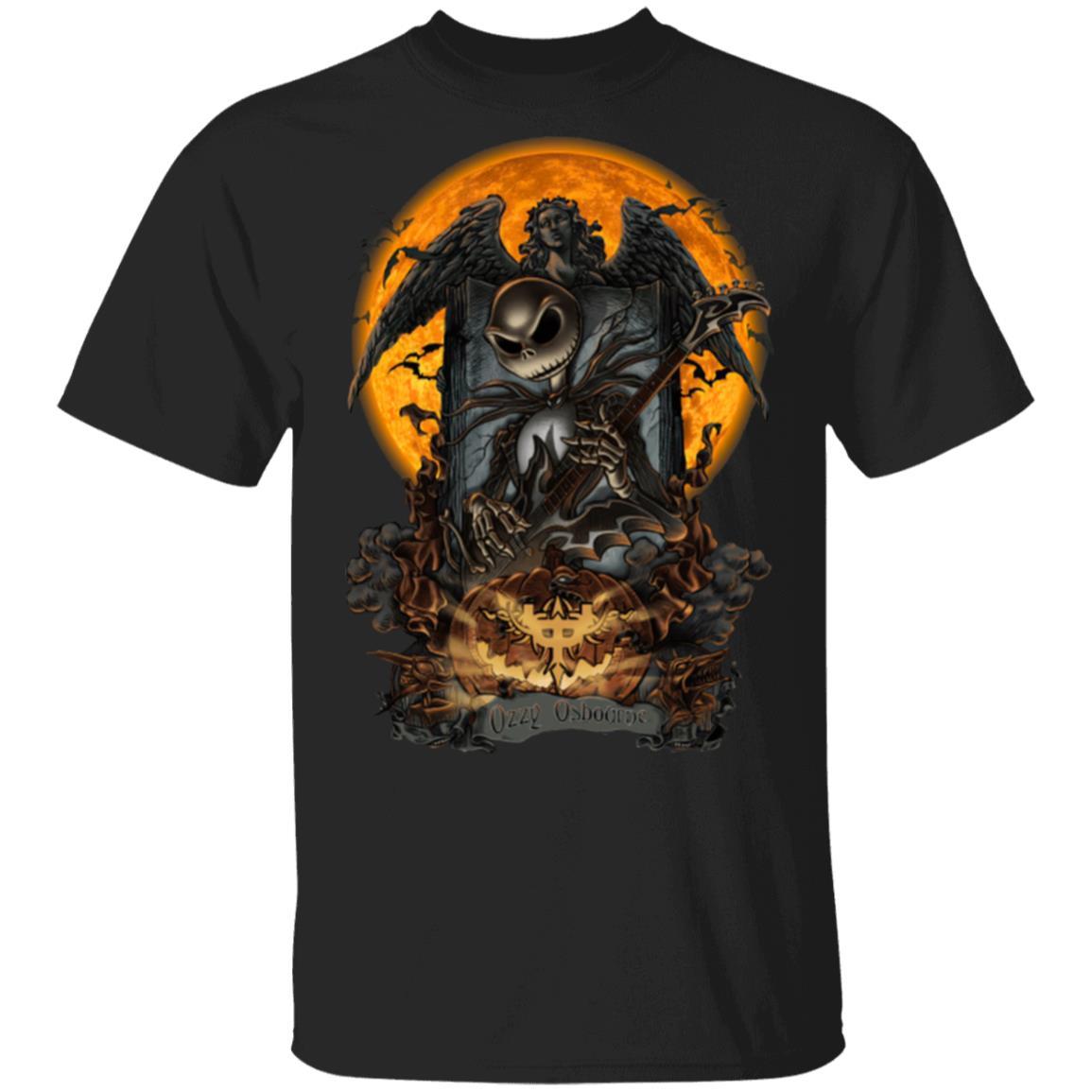 Ozzy Osbourne TShirt Jack Skellington Bat Halloween