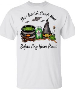 Heineken Can This Witch Needs Beer Before Any Hocus Pocus Shirt