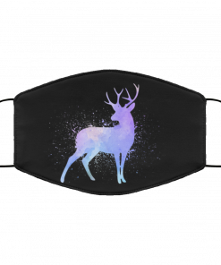 Watercolor Reindeer Face Mask