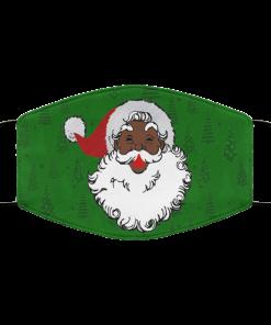 Black santa claus christmas Face Mask
