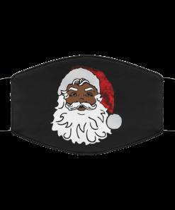 African black santa christmas Face Mask