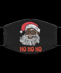 African American Santa Claus Ho Ho Ho Merry Christmas Face Mask