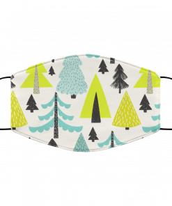 A Forest of Cute Trees in Winter Face Mask