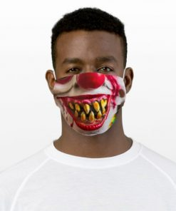 Zombie Clown Cloth Face Mask