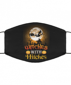 witches with hitches face mask