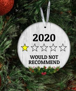 2020 Christmas Ornament, Quarantine Christmas Ornament, 2020 Would Not Recommend