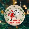 Santa Wearing A Face Mask Decorative Christmas Ornament – Santa Toilet Paper Ornament