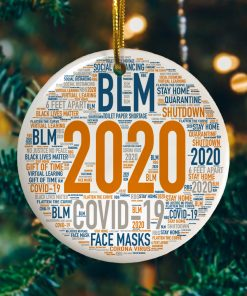 2020 Christmas Quarantined Year In Review Decorative Christmas Ornament Funny Christmas Holiday Gift