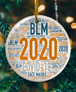 2020 Christmas Quarantined Year In Review Decorative Christmas Holiday Ornament
