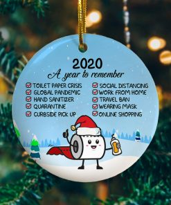 2020 A Year To Remember Decorative Christmas Ornament Funny Holiday Gift