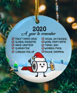 2020 A Year To Remember Decorative Christmas Holiday Ornament