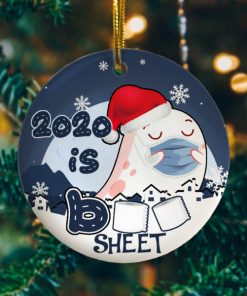 2020 Is Boo Sheet Funny Decorative Christmas Holiday Ornament
