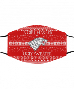 A Girl Has No Ugly Sweater Arya Stark GoT Ugly Christmas Face Mask