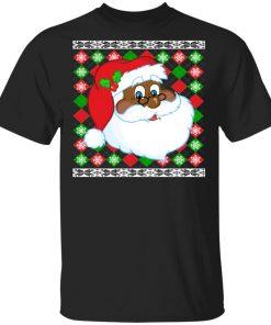 Black Santa Claus Ugly Christmas Sweater