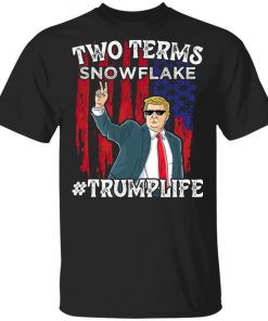 Two Terms Snowflake Vote President Trump US Flag Sunglasses Long Sleeve T-Shirt