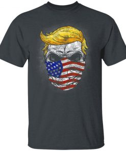 Trump USA Skull US Flag Mask Anti-Trump Skull Election T-Shirt