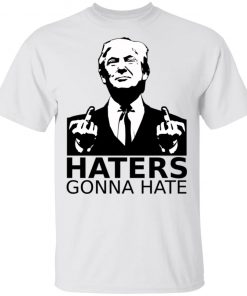 Donald Trump middlefinger funny Trump gift satire Long Sleeve T-Shirt