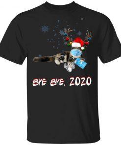 Tabby Cat Bye Bye 2020 Christmas New Year T-Shirt