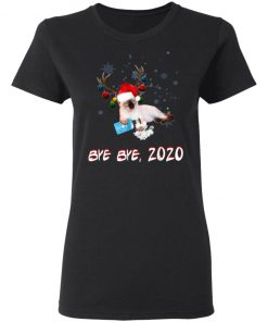 Applehead Siamese Cat Bye Bye 2020 Christmas New Year T-Shirt, Long Sleeve