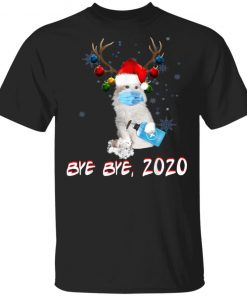 American Curl Cat Bye Bye 2020 Christmas New Year T-Shirt, Long Sleeve