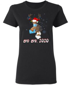 Airedale Terrier Dog Bye Bye 2020 Christmas New Year T-Shirt, Long Sleeve