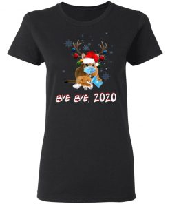 Abyssinian Cat Bye Bye 2020 Christmas New Year T-Shirt, Long Sleeve